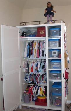 Doll Accessories Storage For AG Dolls · Doll OrganizationDoll  StorageAmerican Girl StorageBaby Clothes ...