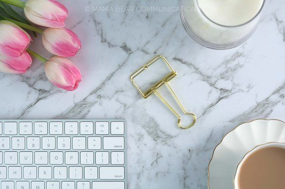 Styled Stock Photo | Pink Workspace by mamabearcomms on @creativemarket