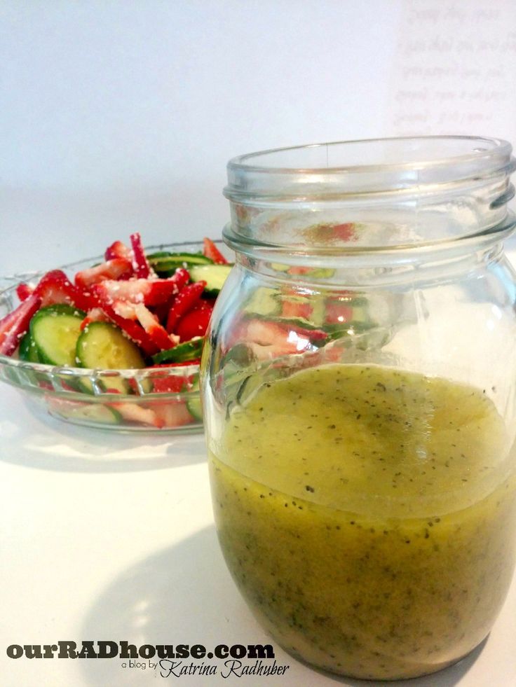 strawberry and cucumber salad with poppy seed dressing