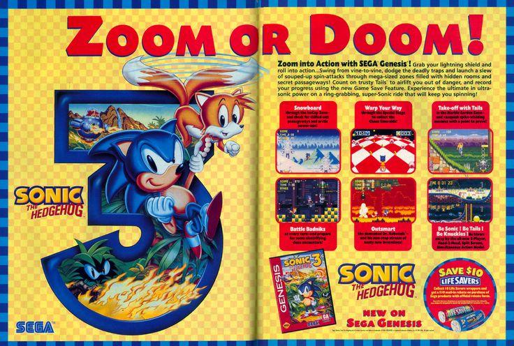 Vintage Arcade Games >> Sonic the Hedgehog 3, Sonic Team/Sega, Genesis/Mega Drive, 1994. | Retro Arcade Mania ...