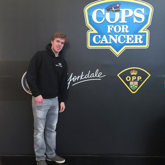 Hey Connor Mcdavid! Thanks for stopping by #Yorkdale and making an appearance at our #CopsForCancer event! @mcdavid97 #YorkdaleC4C