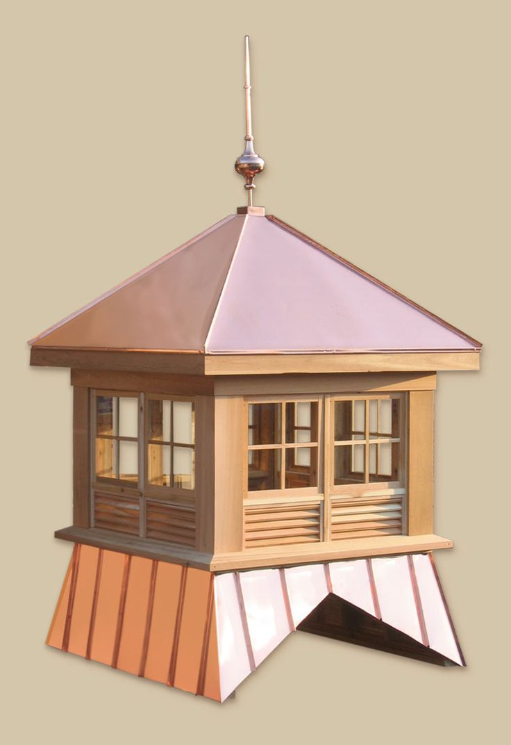 Beautiful little wood and copper cupola