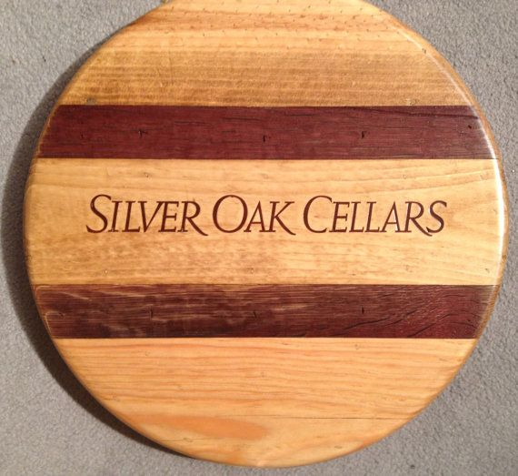 Silver Oak Lazy Susan with Barrel Stave Inlay by alpinewinedesign, $150.00