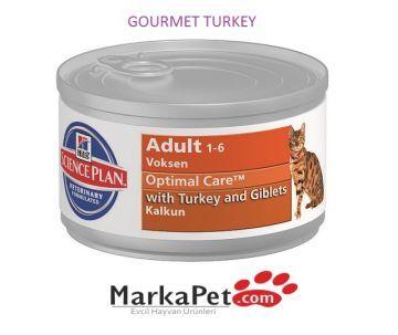 Hill's Science Plan Feline Adult Gourmet Turkey Kedi Yaş Mama 85 gr