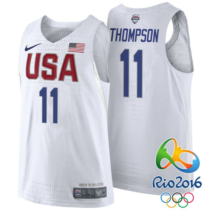 1e13c21bb ... 11 klay thompson basketball jerseys white 1 xl 62f9e eddf4  clearance  basketball jersey rio 2016 olympics usa dream team a1bbf 690d6