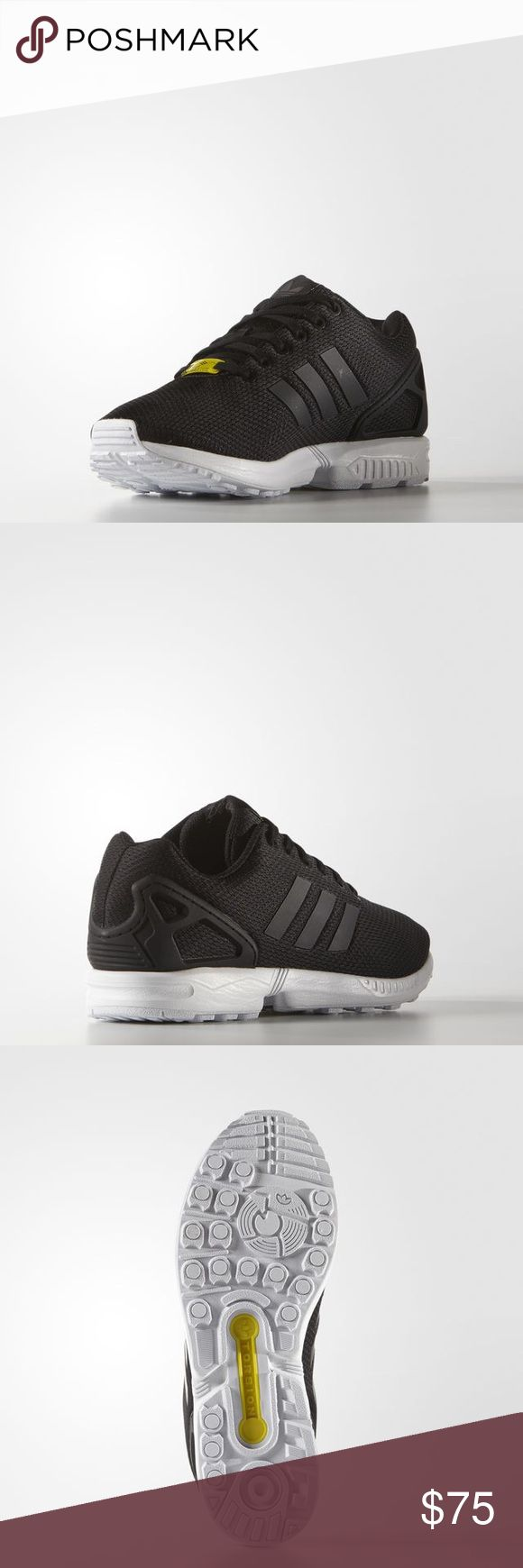 ZX Flux Black Black White Men's size 12. New with tags. adidas Shoes Sneakers