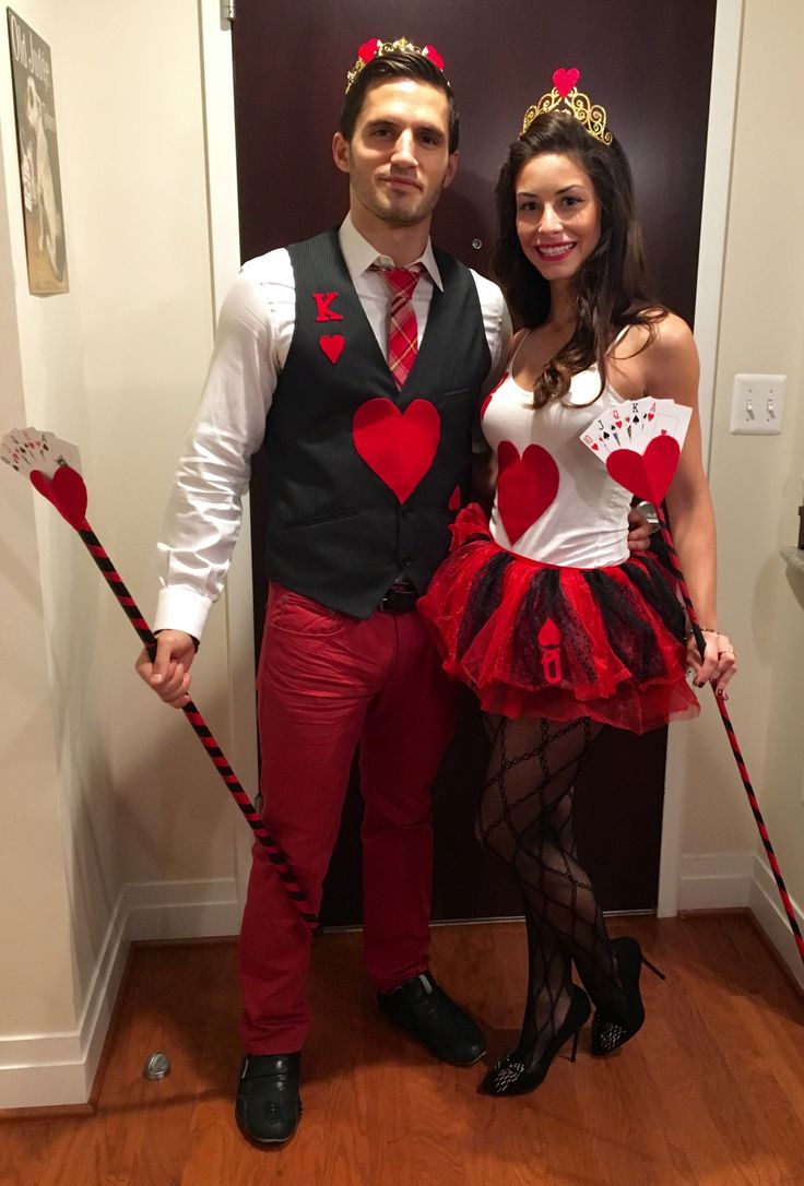 DIY King and Queen of Hearts Couples Halloween Costume                                                                                                                                                                                 More