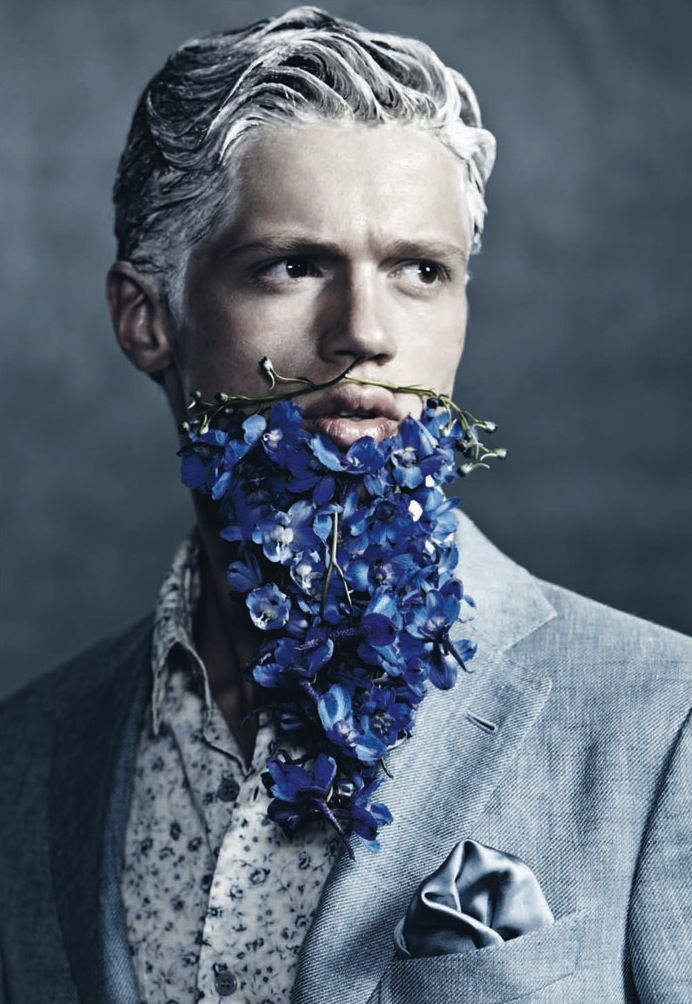 Manuscript Magazine : Blue Beards    #Fashion #Mens