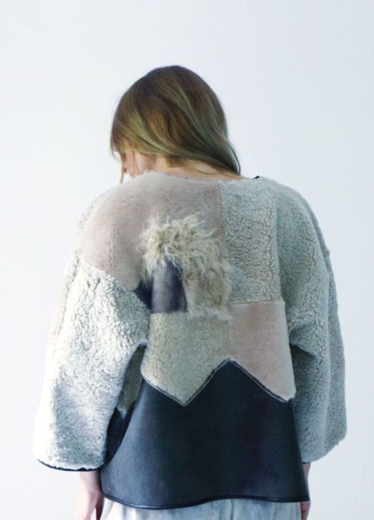 Recycled and redone shearling fur jackets by Milena Silvano. ekoturkis ja kierrätys « Outi Les Pyy