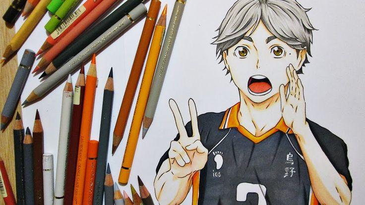 "Drawing Sugawara ""Suga"" Koushi || Haikyuu!! ハイキュー!!"