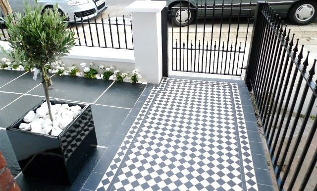 Victorian Tile Garden Path...London