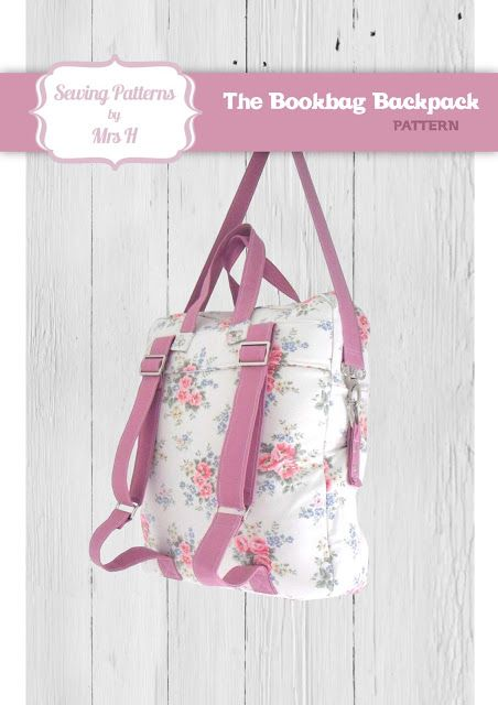 Pattern to turn in to a boy back pack.  At home with Mrs H: The Bookbag Backpack