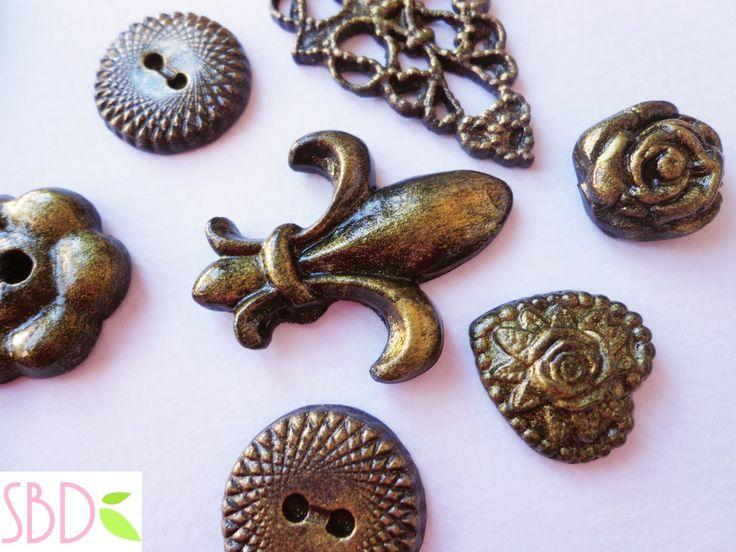 Fimo: effetto metallo antico - Fimo Clay: Old metal effect