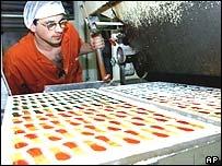 Gummi bear factory near Kitzingen, Germany