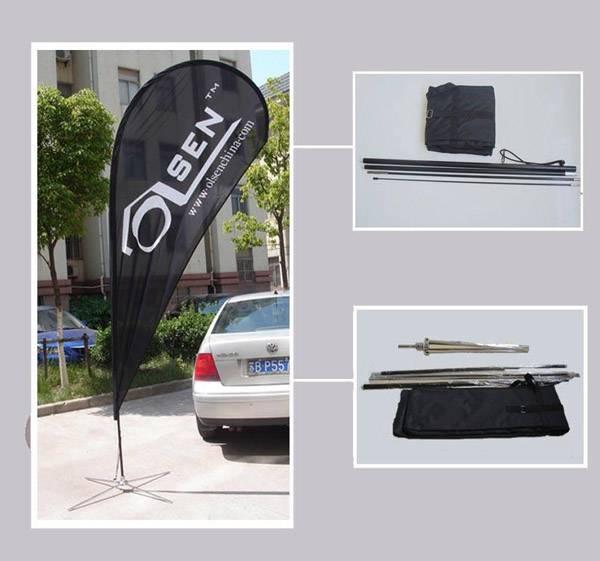 Telescopic Flagpole Product Description OS-AP2 3.6M Telescopic flagpole for advertising flying banner/beach flag...