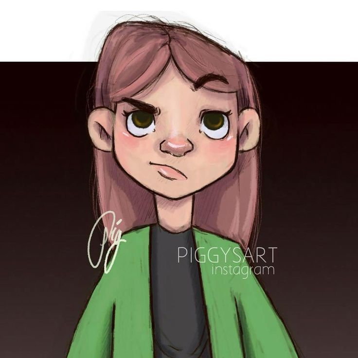piggysart instagram facebook illustration drawing sketch  Ayker girl
