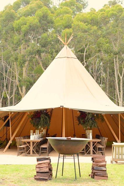Tipi at Gilgara Retreat with open fire pit || THE ZEST GROUP WA || www.thezestgroupwa.com.au