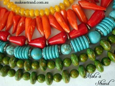 A rainbow selection of Make a Strand designs and a variety of materials!