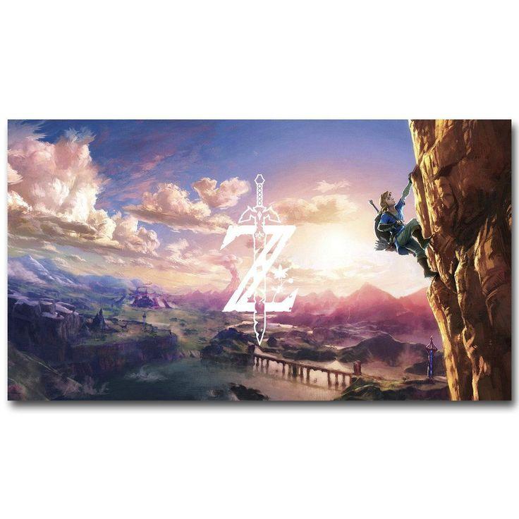 The Legend Of Zelda Breath of the Wild Silk Poster