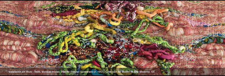Instalación sin título - Textil, técnicas mixtas. Placido (Pocho) Guimaraes (n. 1951). Colección del Museo de Arte Moderno, GE.