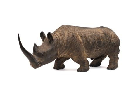 rhino sculté bois  chez Maniglier