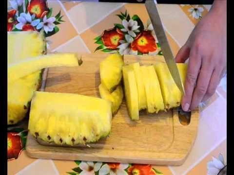 Как порезать ананас Два способа