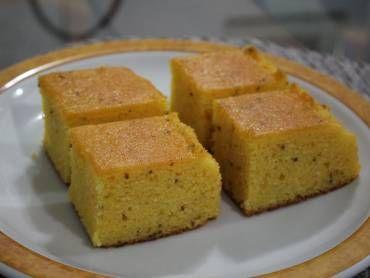 Bolo de Fuba (Brazilian Cornmeal Cake) | I Run For Dessert | Pinterest
