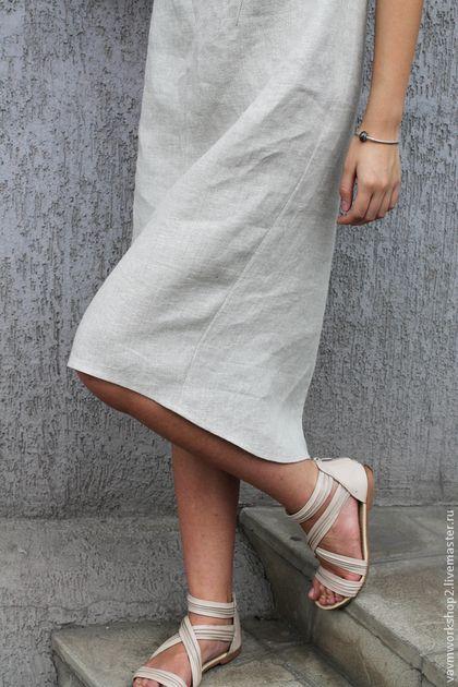 Купить или заказать Платье льняное из серии 'Камни'