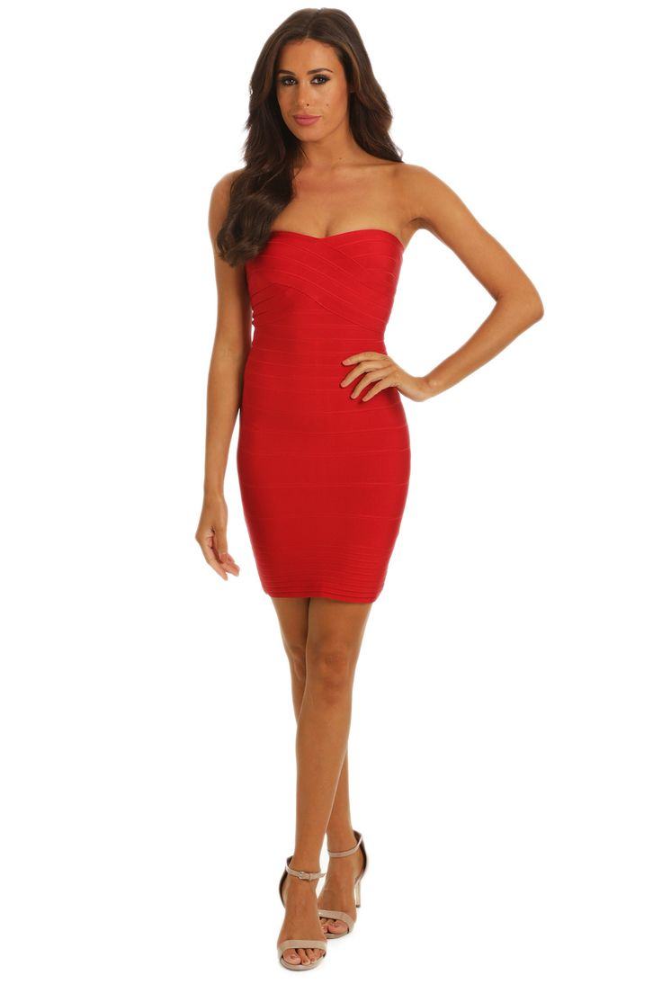 Noodz Boutique - Natalie Mini Dress In Red