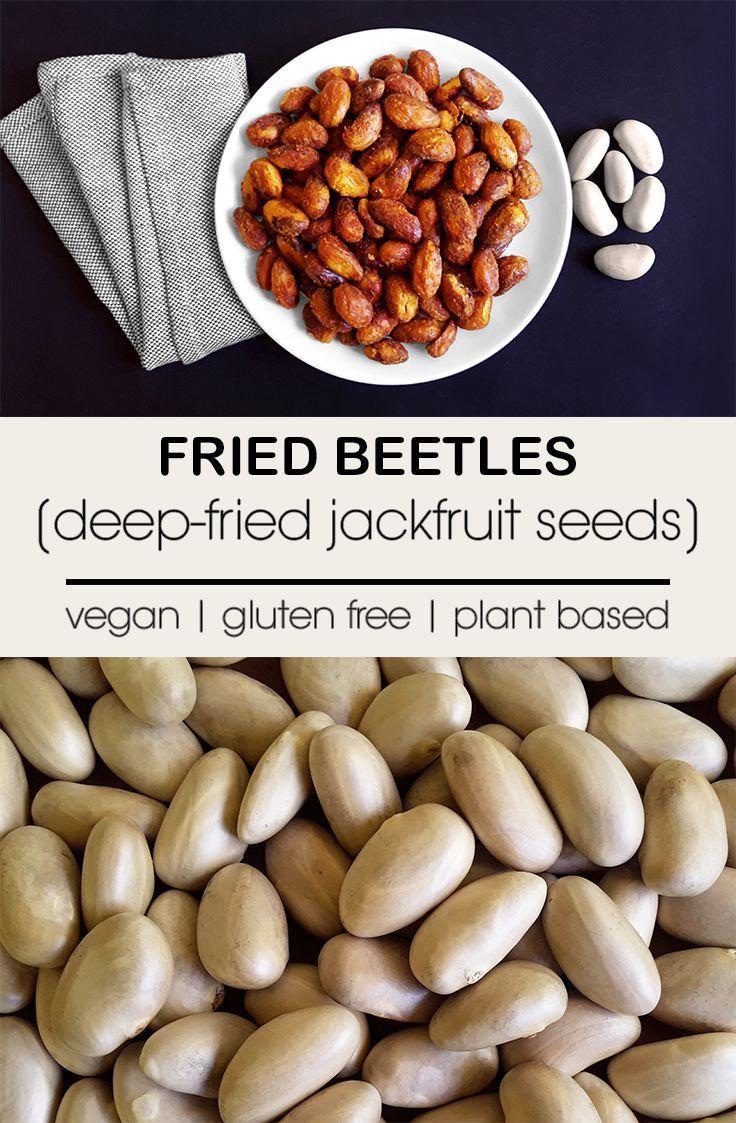 Fried Beetles – Crispy deep-fried jackfruit seeds (Vegan + Gluten Free)