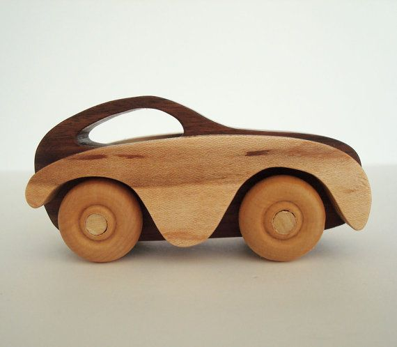 Wooden Children's Toy Car Wood Waldorf Toy Cars and Trucks via Ooh Look It's a Rabbit.