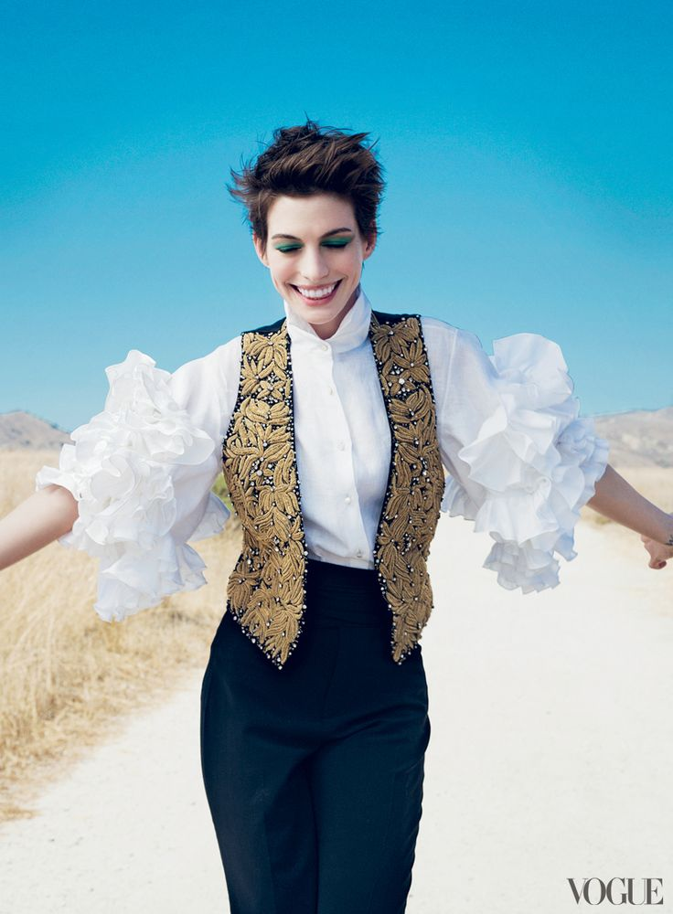 Anne Hathaway    Photographed by Annie Leibovitz