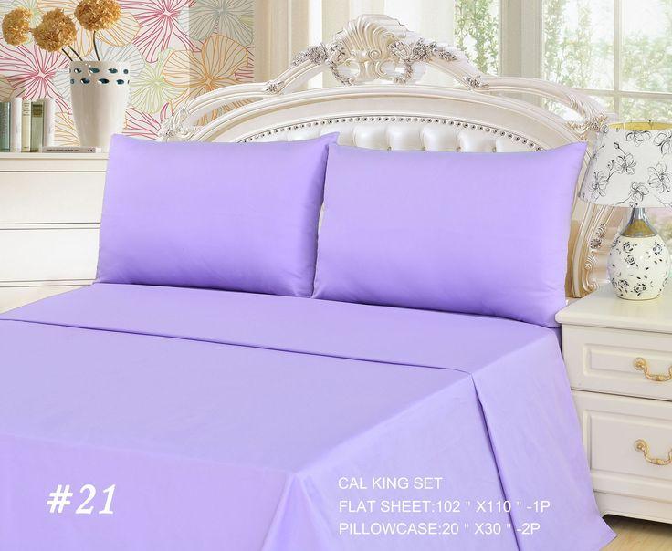 Tache 2 to 3 PC Cotton Solid Lavender Dreams Light Purple Bed sheet Set (Flat Sheet)