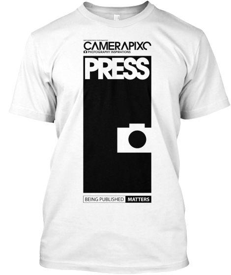 WHITE PRESS Camerapixo T-Shirt