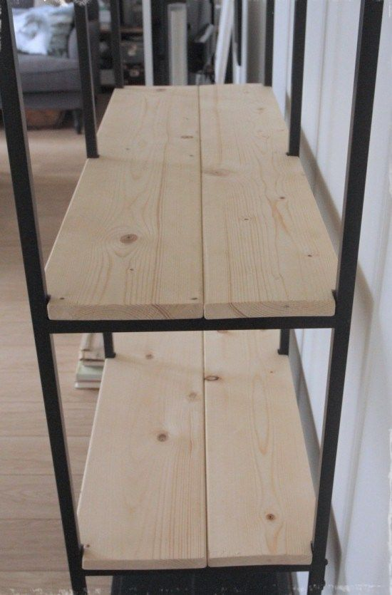 Turning The Vittsjo Shelving Rustic And Industrial Mobelverschonerung Ikea Diy Und Ikea