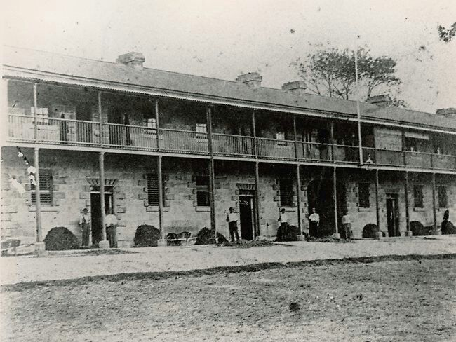 Belmore Barracks on the site that is now Central Railway Station in Sydney. •Justice & Police Museum•
