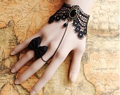 Gothic Beautiful, Cuffs Bracelets, Black Lace, Costumes Parties, Gothic Victorian, Bows Rings, Gothic Lolita, Lace Bracelets, Black Friday