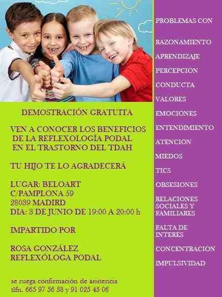 Taller demo Beneficios Reflexología Podal en el TDAH
