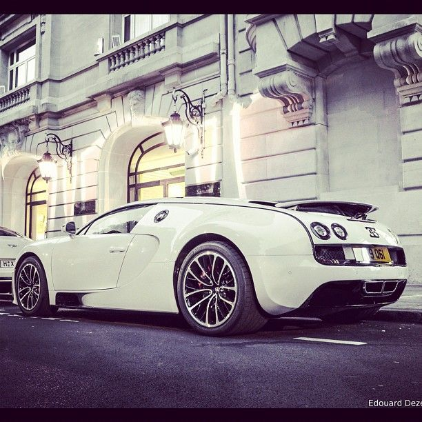 White Bugatti SS In Paris. Oh, It Is Sexy In White.