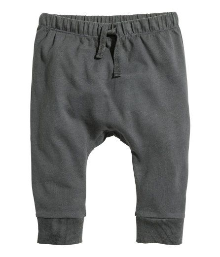 Check this out! CONSCIOUS. Pants in soft organic cotton jersey with an elasticized drawstring waistband and ribbed hems. - Visit hm.com to see more.