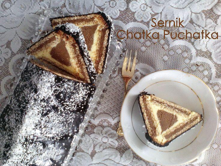 Sernik Chatka Puchatka (Baby Jagi, Trójkąt) - ciasto bez pieczenia, krok po kroku PRZEPIS