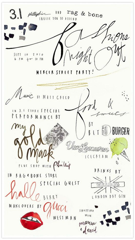 。: Graphic, Typo, Fashion Night, Bernadette Easter, Hand Drawn, Handwriting, Fonts, Hand Lettering