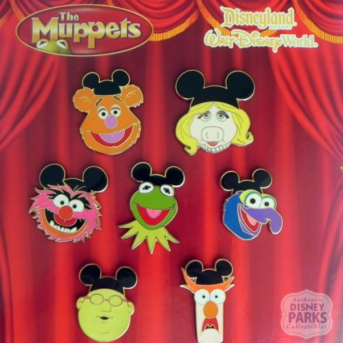 Disney-Parks-The-Muppets-Red-Curtain-Pins-Booster-Trading-Set-Pack