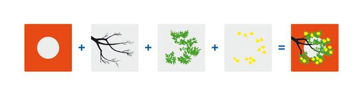 """Piu e Meno"" (Plus and Minus): Beautiful set of layering transparencies designed by Bruno Munari."