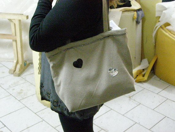 woman  women shoulder bag with  inside cases by handmadesthings, €20.00