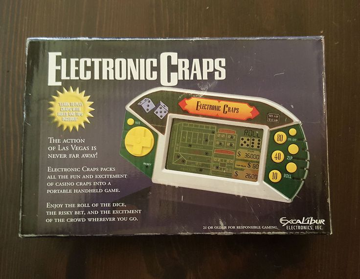 Excalibur Electronic TALKING CRAPS Learn to play Casino Game Portable Handheld