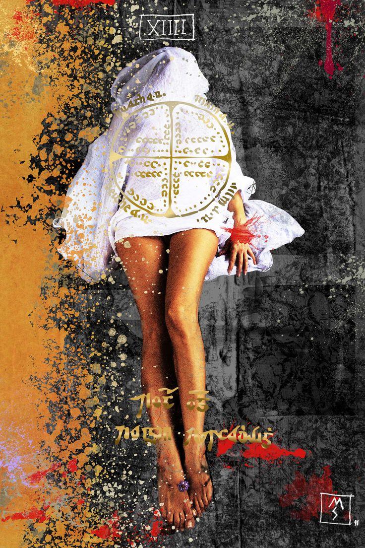 Arcane 14 - Temperance 50x70 digital painting and golden retouch © Monica Seksich