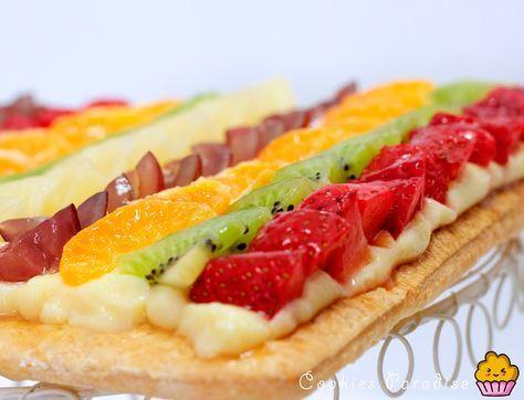 Cookies Paradise: Tarta de hojaldre y frutas