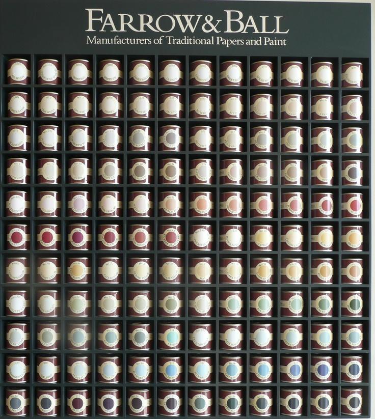 Farrow and Ball sample paint pots