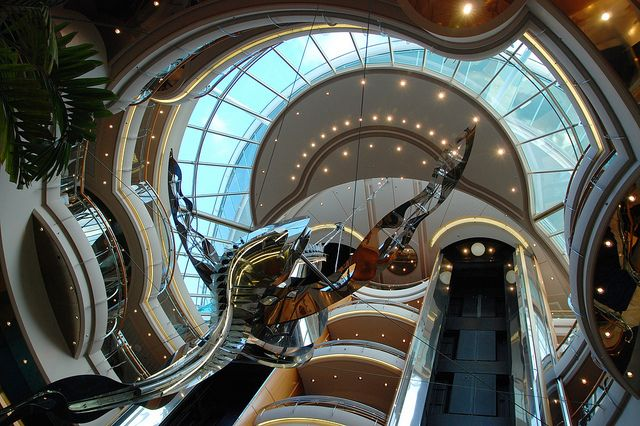 Vision of the Seas Dining | Atrium of Vision of the Seas, Mediterraean | Flickr - Photo Sharing!